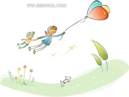 气球简笔画线条