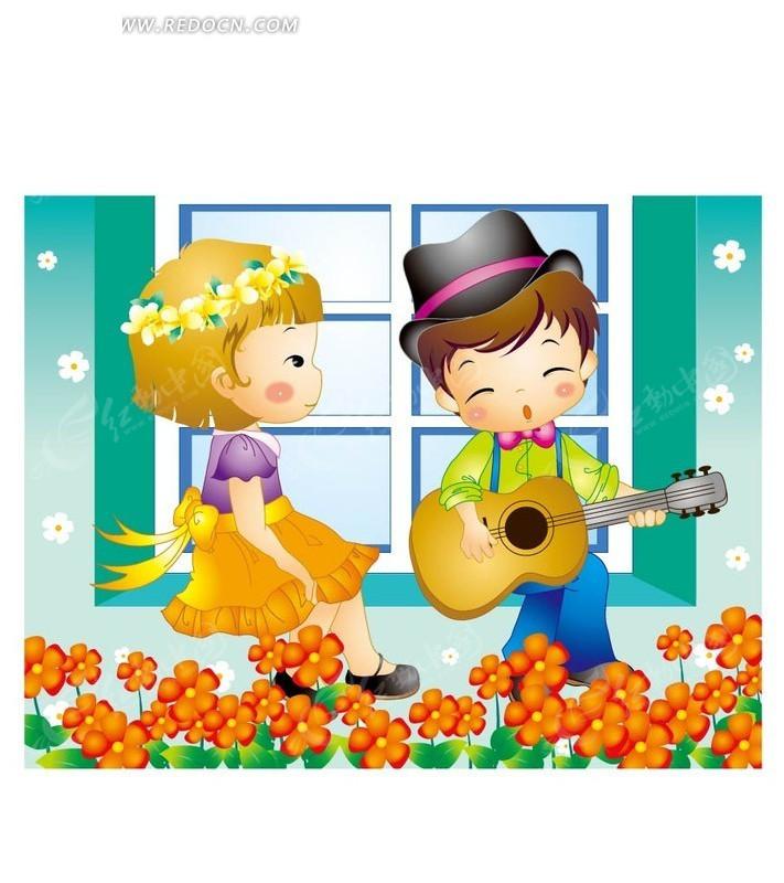 弹吉他给女孩听的小男孩ai免费下载