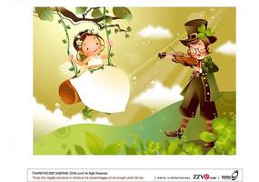 荡千秋的女精灵和拉小提琴的男孩