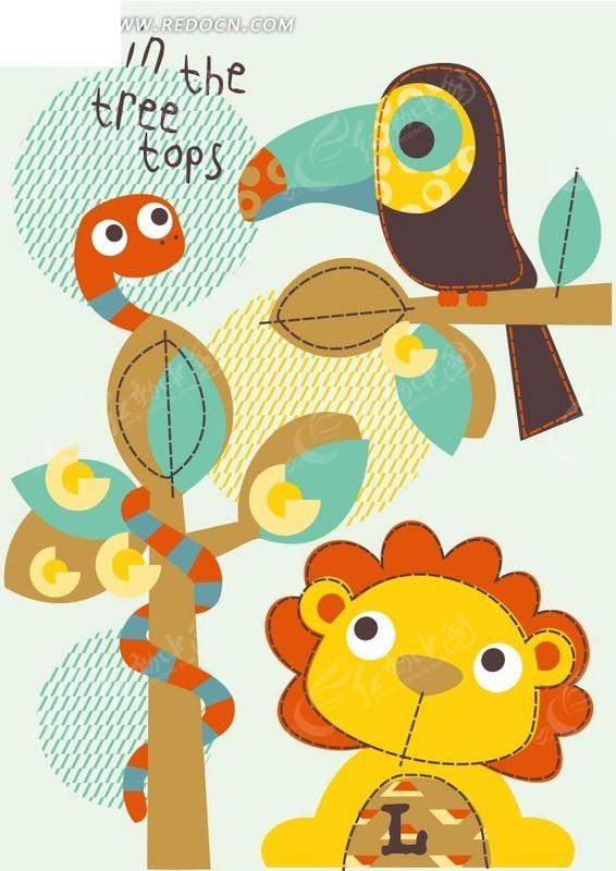 卡通创意可爱小动物