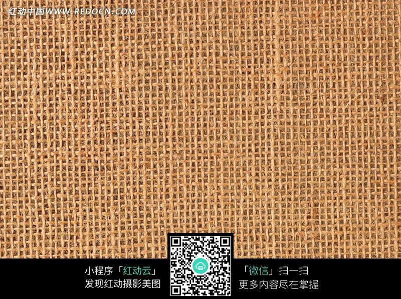 经纬纱清晰可见的平纹布料构成的图片_底纹背景图片图片