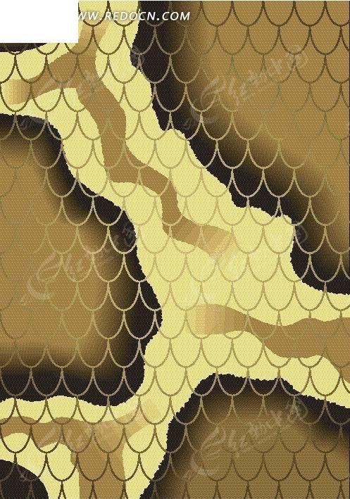 手绘鳞片鳄鱼纹