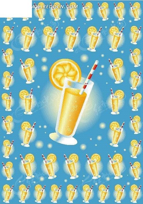 柠檬饮料矢量图_卡通形象