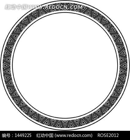 中国古典图案-几何形构成的环形图案