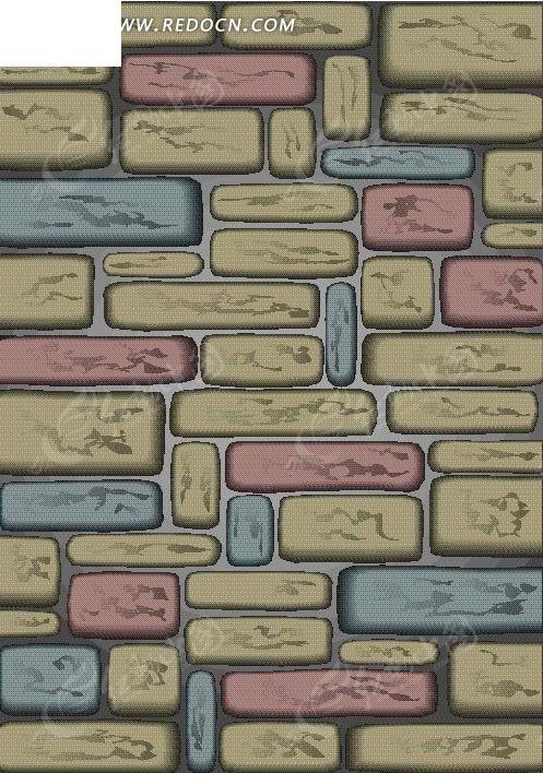 手绘卡通砖墙