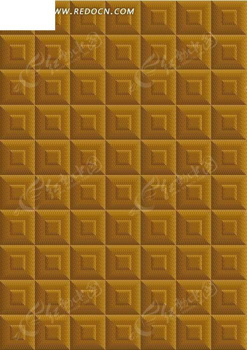 方形格子构成的黄色矢量图图片