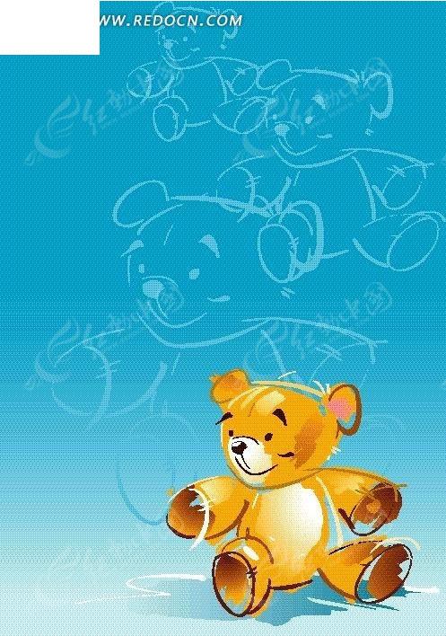 卡通小熊 暗纹小熊 手绘 卡通人物 卡通人物图片 漫画人物 人物素材