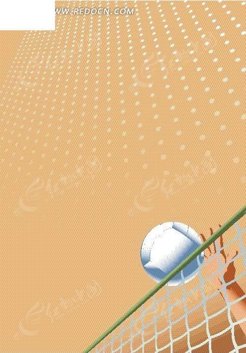 排球运动中扣球瞬间
