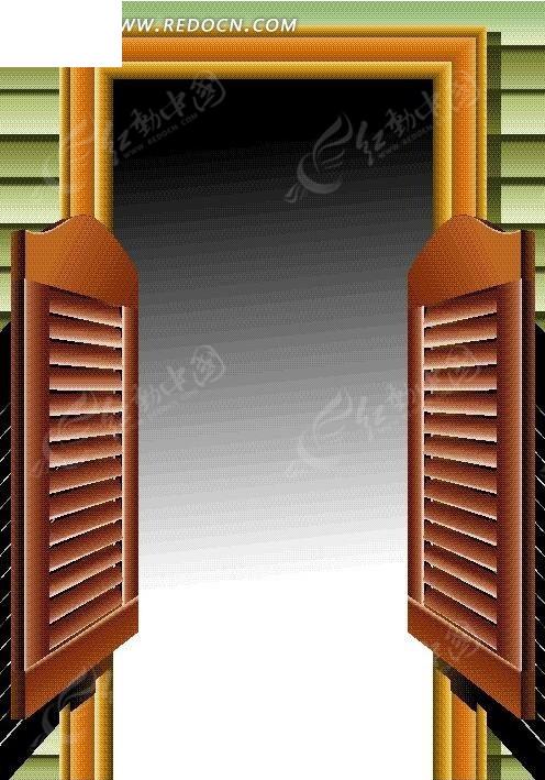 手绘木屋的小木门