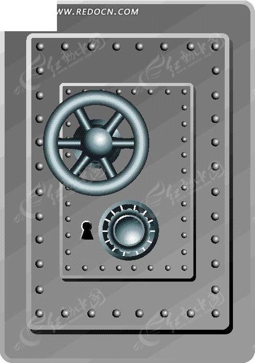 手绘密码锁保险柜