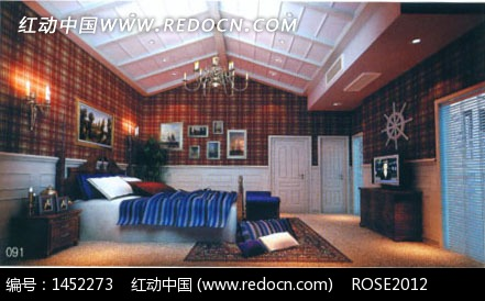 3d素材 3d设计 阁楼式卧室设计3d效果图 室内设计 室内装修 设计效果