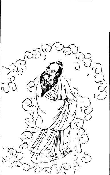 手绘古装男人侧脸
