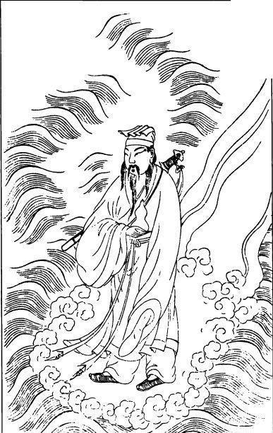 古代人物-云纹里的仙人
