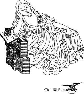 古代人物-坐着的菩萨