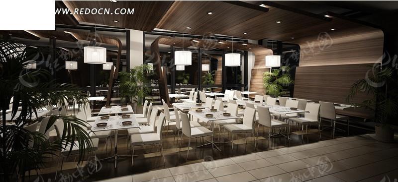 大型快餐店设计3d效果图图片高清图片