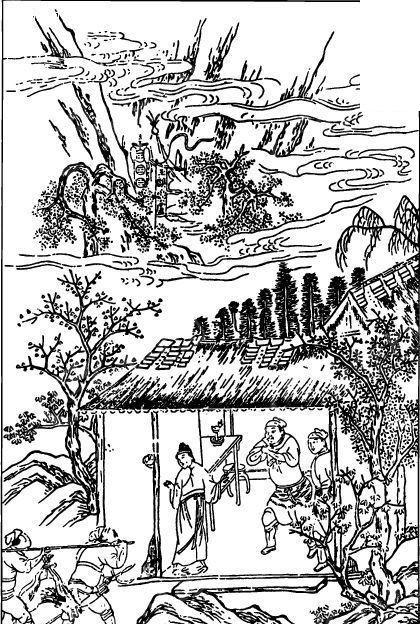 古时住宅手绘图
