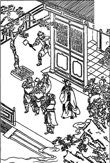 卡通古代房子漫画