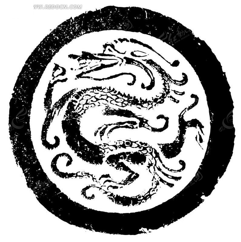 圆形中国传统龙纹