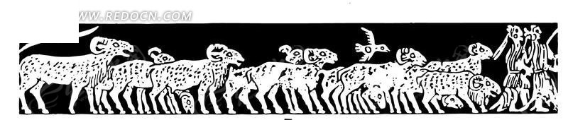 素材描述:红动网提供传统图案精美素材免费下载,您当前访问素材主题是中国古典图案-羊和人物构成的图案,编号是1450097,文件格式EPS,您下载的是一个压缩包文件,请解压后再使用看图软件打开,图片像素是2124*450像素,素材大小 是126.14 KB。
