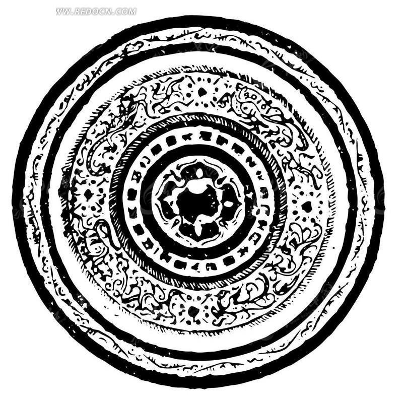 中国古典圆形花纹图片图片