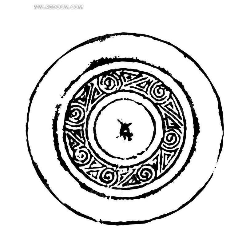 圆形矢量古典花纹素材矢量图图片
