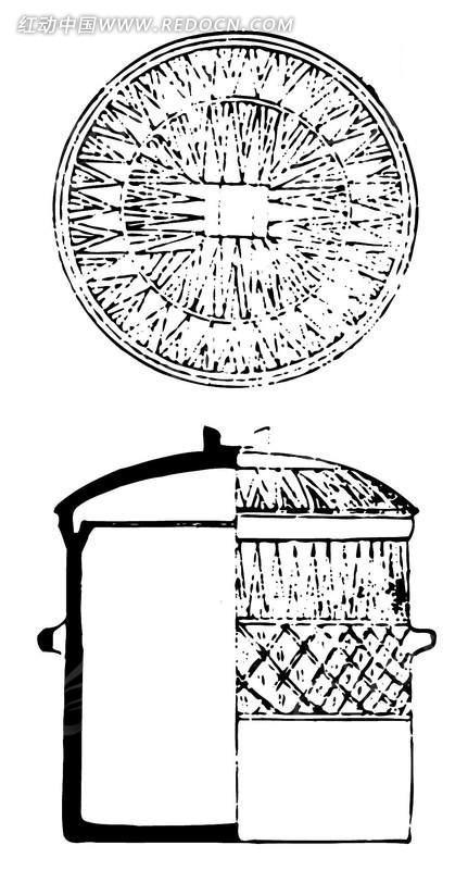中国古代器物-古物上的斑驳的菱形格子