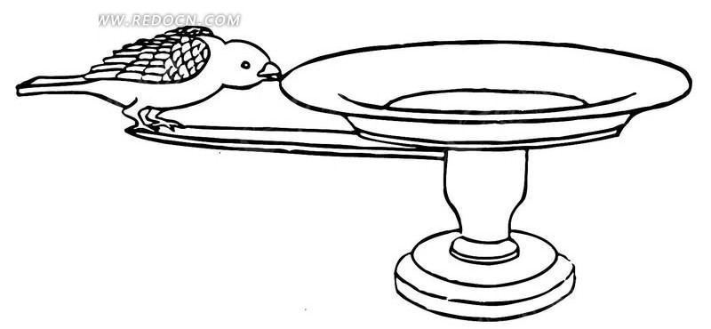 飞鸟 简笔画手绘
