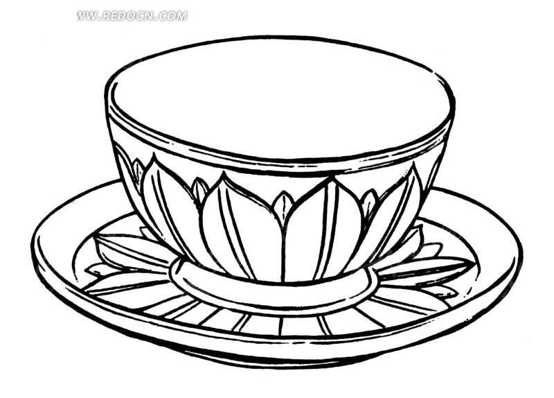 杯 杯子 简笔画 手绘 线稿 800_604