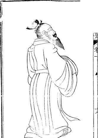 中国古代人物插画-男子的背影图片
