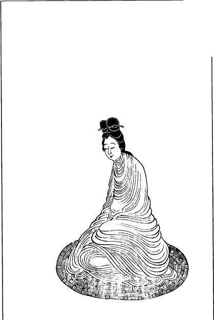 一个古代美丽女人矢量图