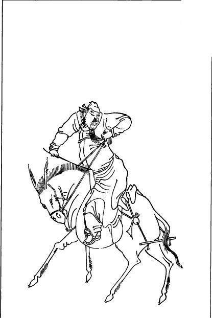 免费素材 矢量素材 艺术文化 传统图案 古代线描人物—骑马的男人