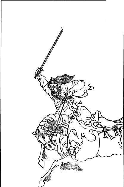 矢量古代骑着战马的人物插画图形