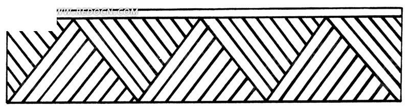中国古典图案-斜线构成的图案