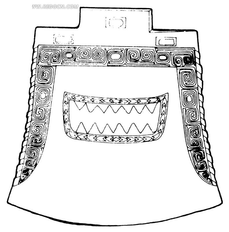 青铜编钟矢量图_传统图案