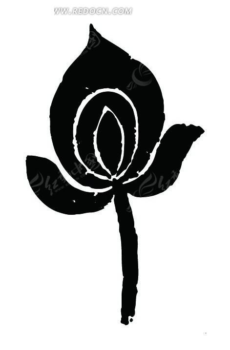手绘莲花芯图片
