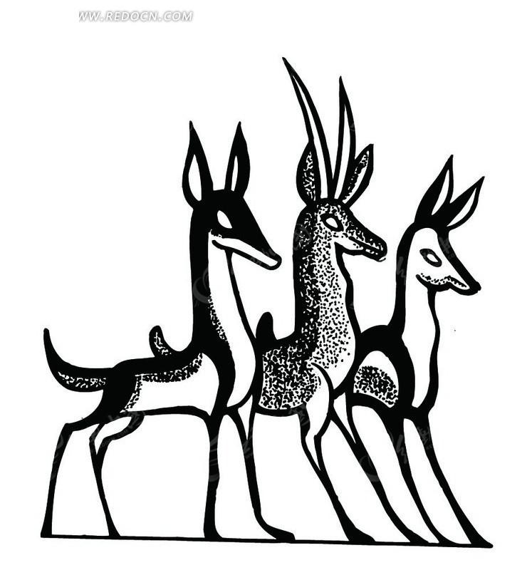 三只漂亮的鹿子