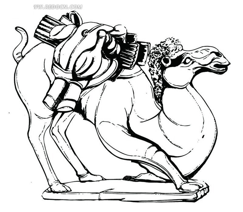 手绘骆驼图片大全