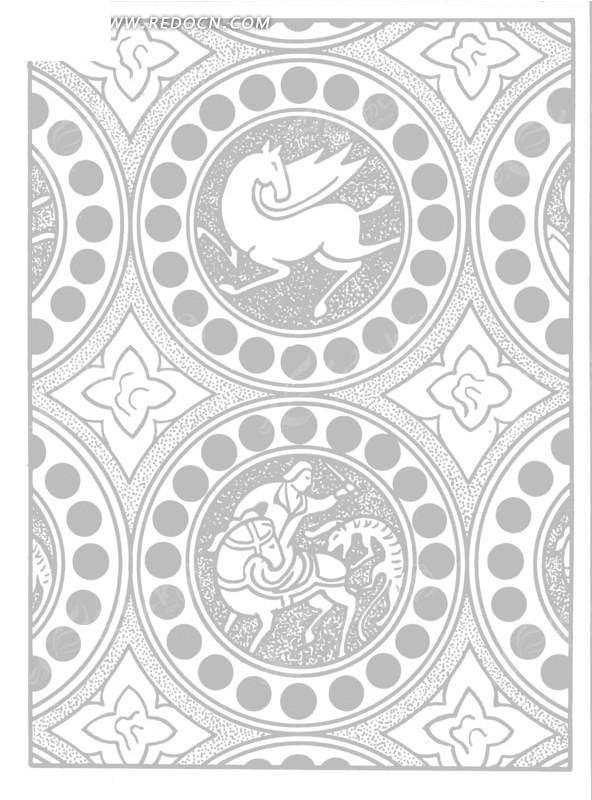 翅膀 花朵 几何形 图案 欧式风格 古典 艺术 装饰 黑白  传统图案