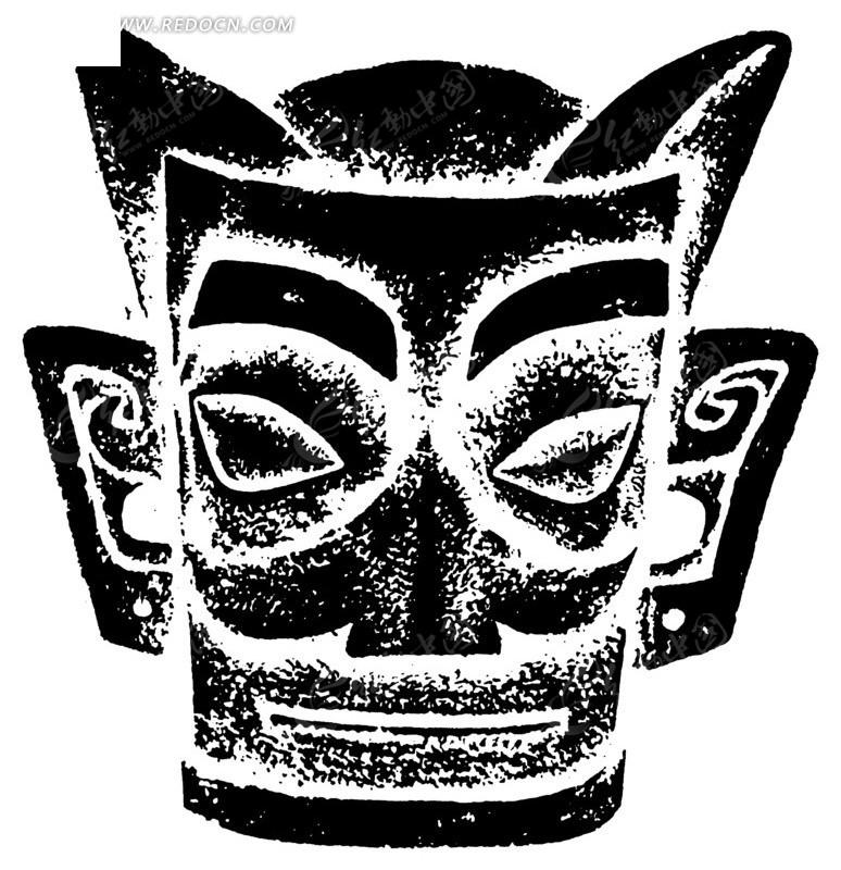 黑白手绘人脸画