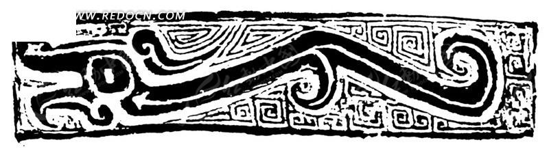 中国古代龙形鼎纹