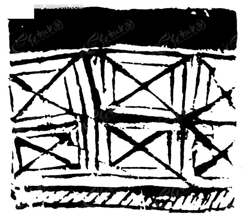 构成的图案矢量图_传统图案; 交叉的线条设计图片素材-线条图片素材