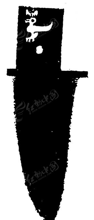 手绘残旧的匕首
