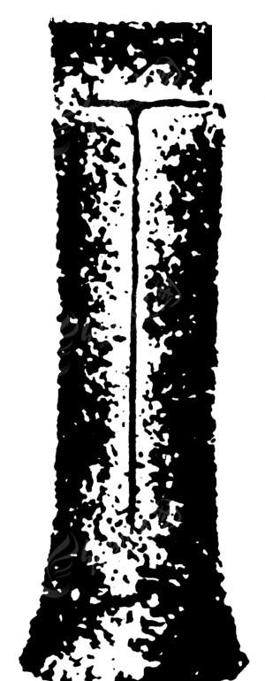 中国古典图案-带t字形花纹的斑驳的条形的古物