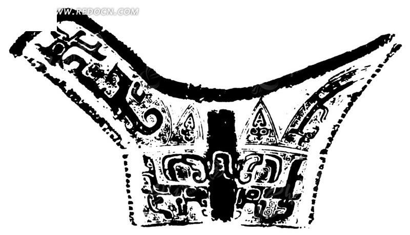 中国古典图案-回纹和几何形构成的不规则形图案