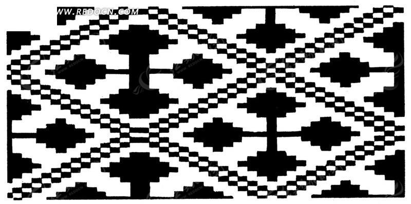 几何图形 构成的精美时尚边框 传统 图案 纹样矢