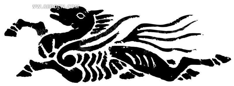 手绘马纹样设计