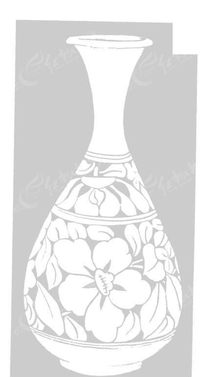 手绘陶瓷花瓶图片