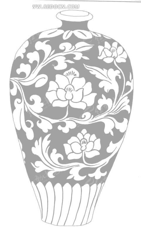 一个手绘陶瓷花瓶