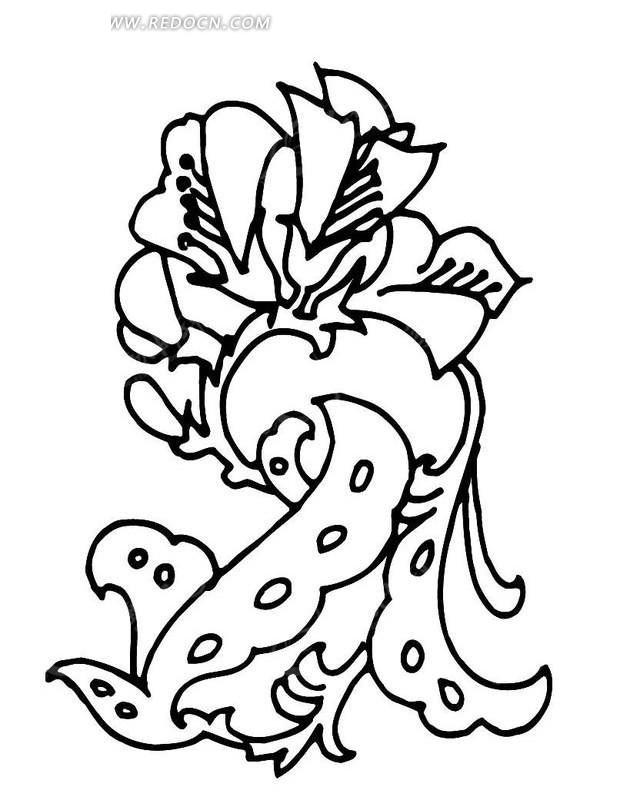 盛开的花朵图案素材
