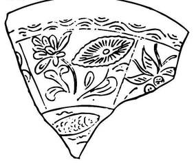 中国古典图案-花朵/叶子/卷曲的叶子构成的不规则形图案